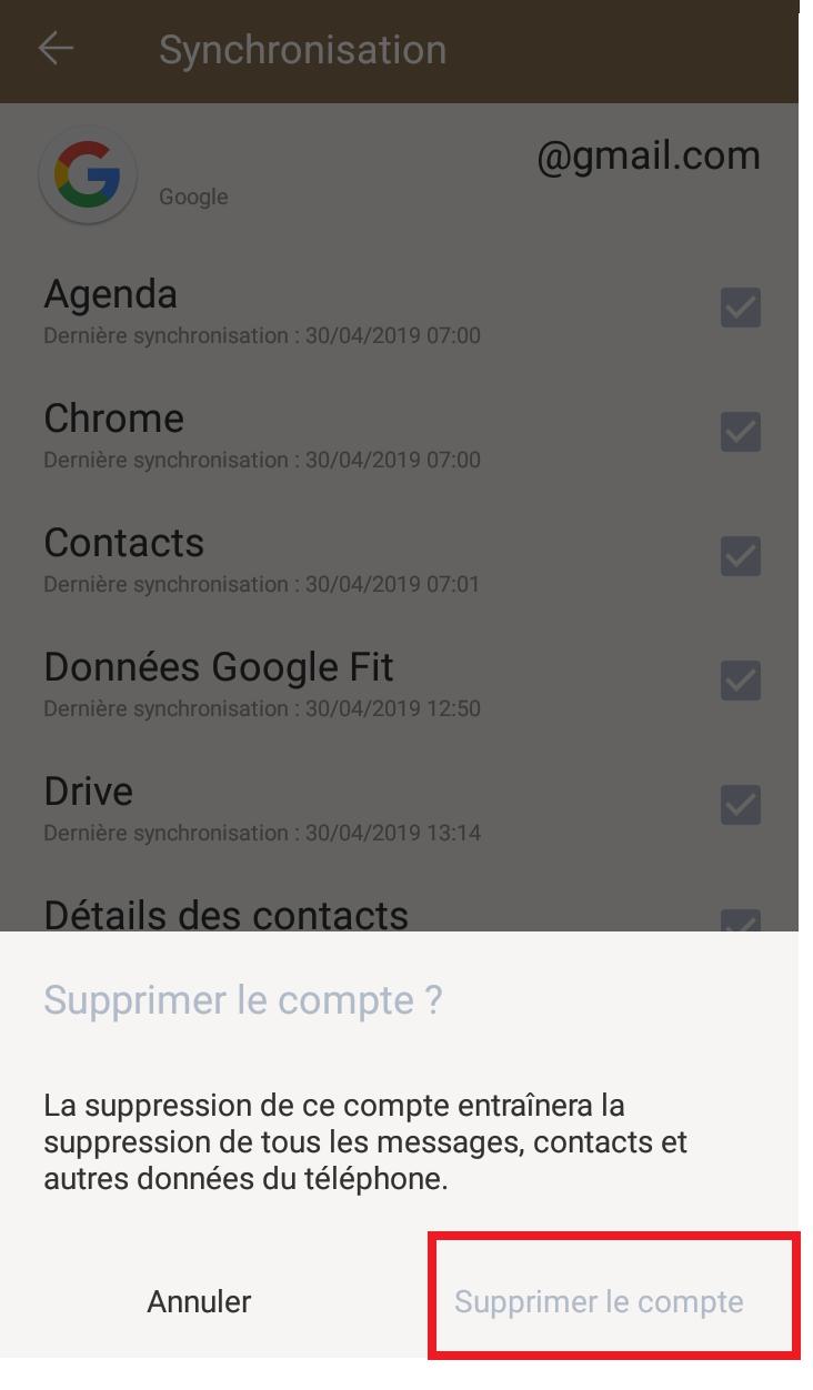 comment supprimer un compte google sur android